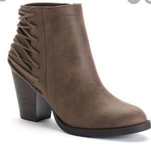 Candie's Laced Back Ankle Booties